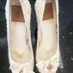 Tory Burch Lace Wedges